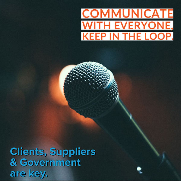 Communicate with everyone involved with your business and the cyber attack