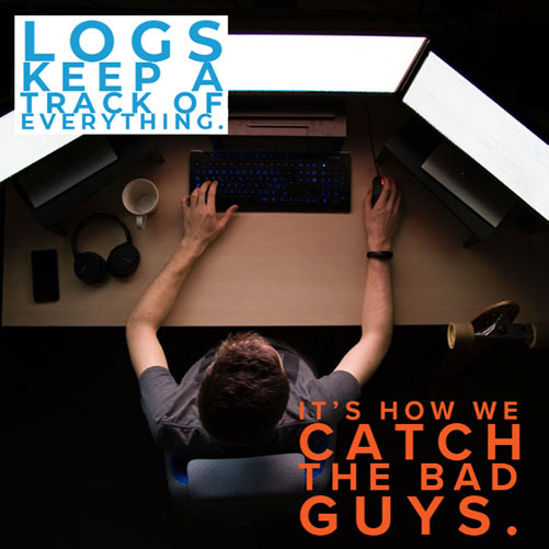 Keep a log of everything! Computer logs help determine where hacks came from, and how.
